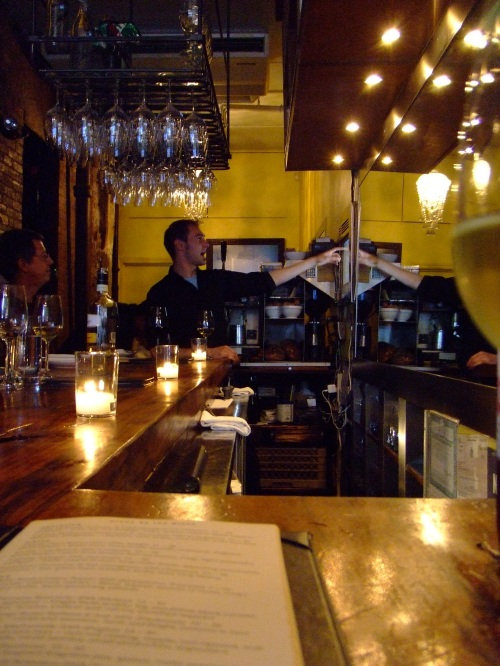The bar at Aroma