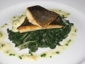 trota con montecato- trout with chard and potatoes
