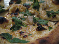 clam pizza at Franny's