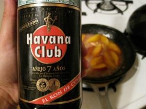 the key flambe ingredient is rum.  I like mine Cuban.