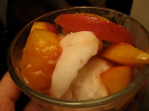 peaches and coconut sorbet
