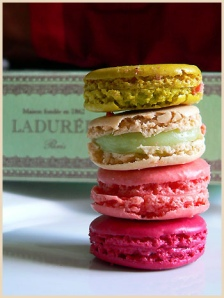 a stack of macarons from Laduree, from la tartine gourmand on flickr