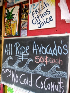 Avocados for sale at Aloha Juice