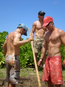 "Traditional Imu's require the effort of several strong Hawaiian ""boys"" to dig the hole.  It also makes for lovely afternoon entertainment."