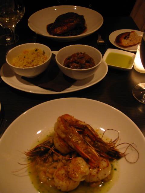 Dinner at Apiary
