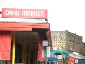 The Oahu Market in Honolulu