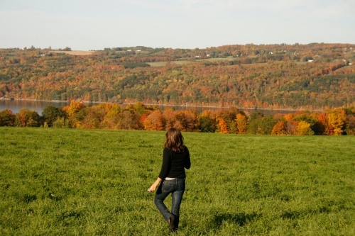 Enjoying the endless fields of green along Lake Skaneateles