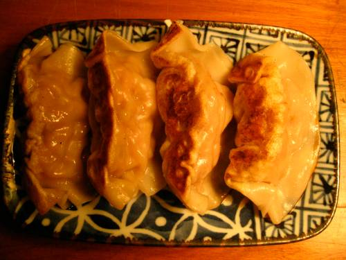 the best pork dumplings from the Good Dumpling Shop in Chinatown