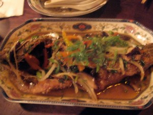 Crispy Sea Bass, Chinese style