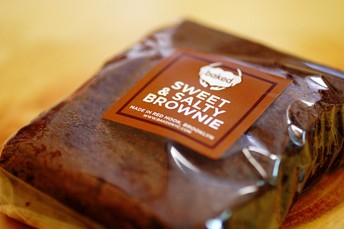 The sweet and salty brownie from Baked, photo courtesy of Flickr