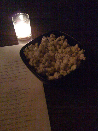 the new bar snack (and this one is free): curry popcorn at Tailor
