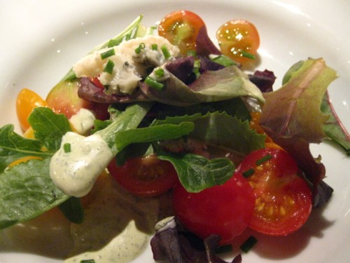 Stilton, Greens, Organic Tomatoes with Lemon Chive Dressing