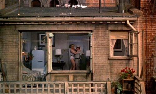 still from Hitchcock's Rear Window