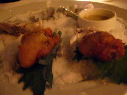 fried oysters...this is a must-try