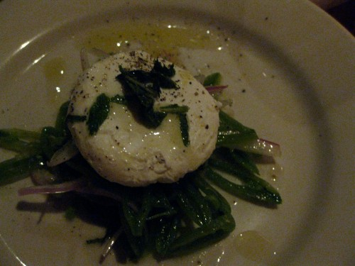 Snap Pea Salad with Goat Cheese