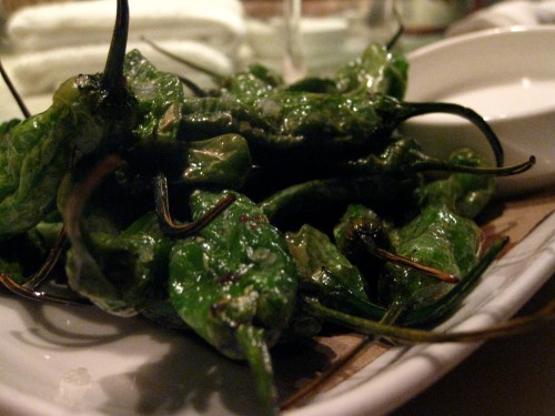 the absolutely remarkable blistered shisito peppers