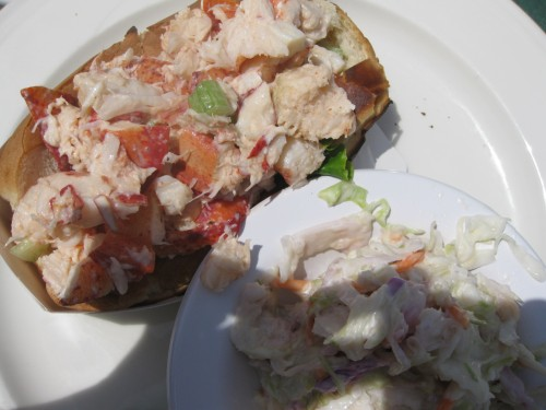 Lobster Roll, with cole slaw