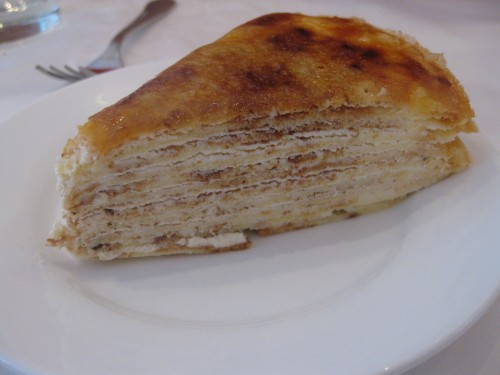 Mmm, a favorite of mine: crepe cake