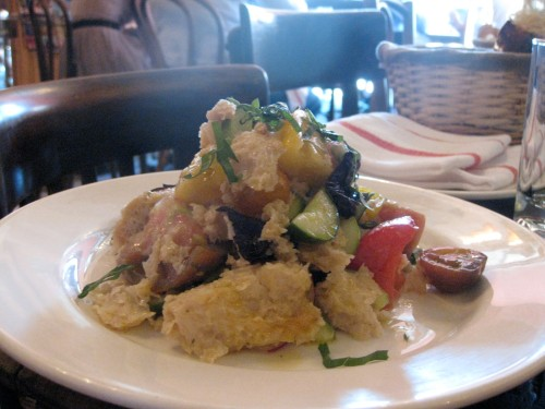 panzanella, or tuscan bread salad
