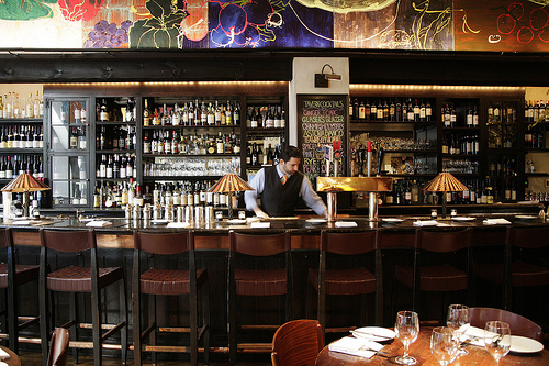 the bar at Gramercy. photo by Zagat Buzz