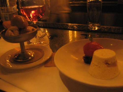 dessert- trio of gelato and sorbets; semifreddo